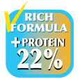 Proteins 22%