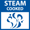 Steam cooked