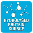 With hydrolysed fish proteins - Limits allergen ingestion